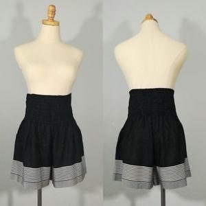 *ACNE STUDIOS High Rise Hi Waist Black Shorts Silk